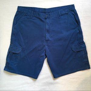 Wrangler Blue Cargo Shorts Size 42